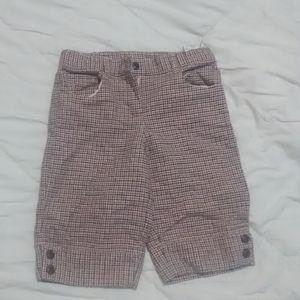Girls plaid shorts.